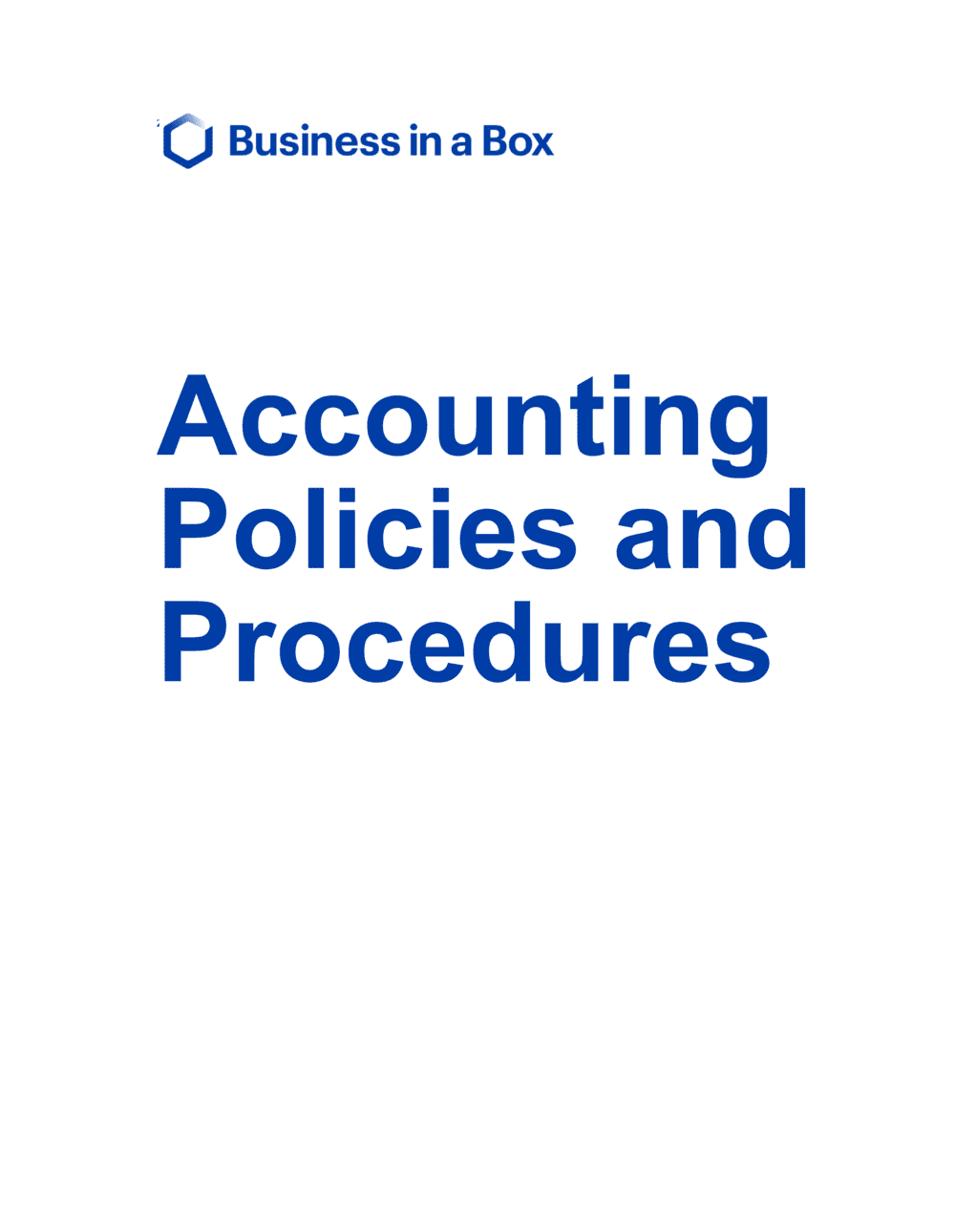 Business-in-a-Box's Accounting Policies And Procedures Template