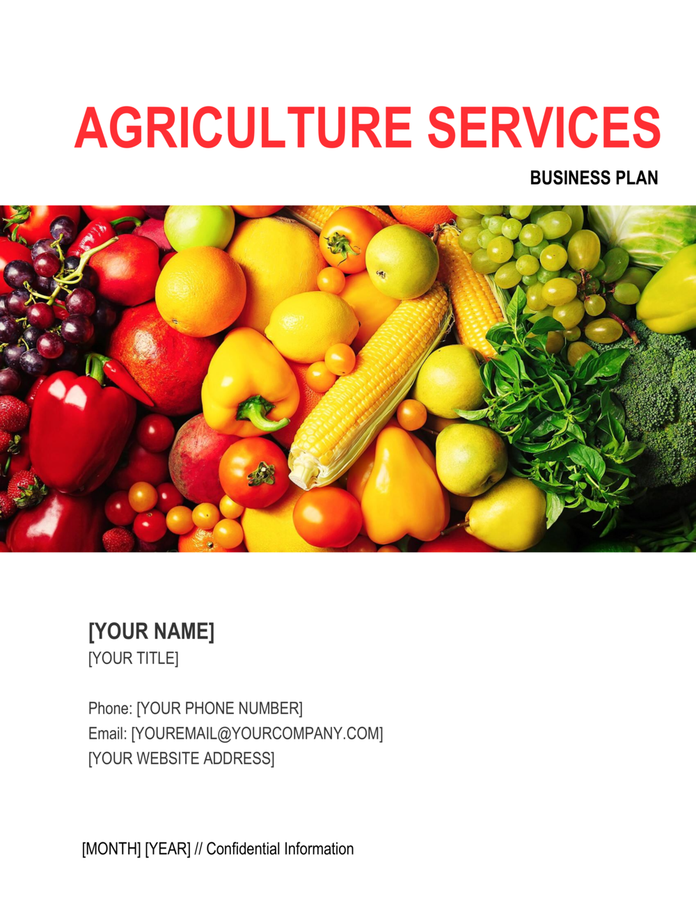 Business-in-a-Box's Agriculture Services Business Plan 2 Template