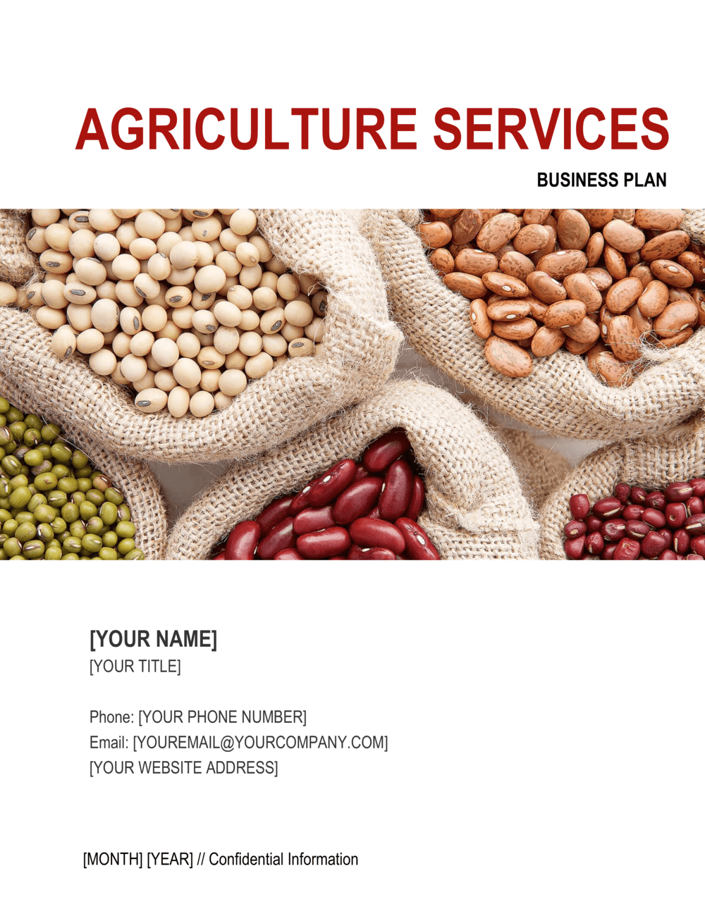 Business-in-a-Box's Agriculture Services Business Plan 3 Template
