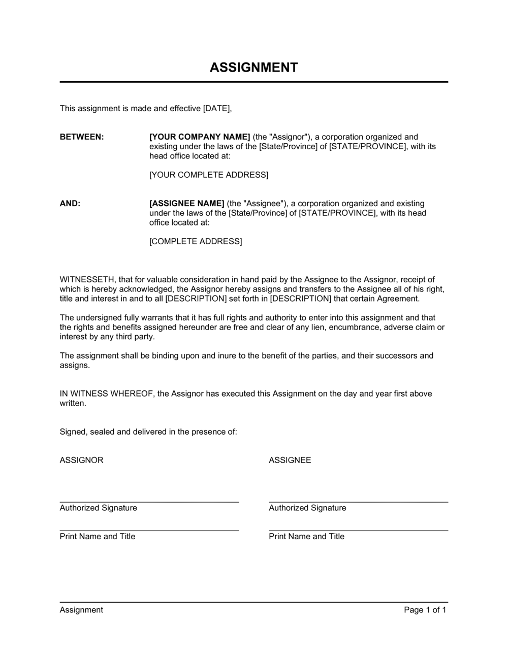 Business-in-a-Box's Assignment Template