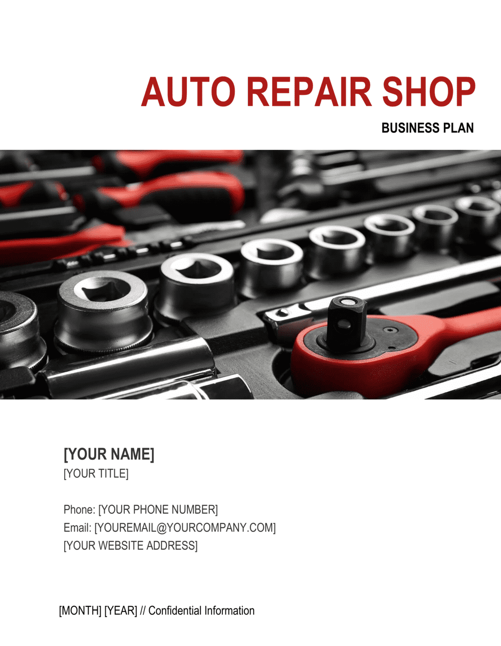 Business-in-a-Box's Auto Repair Shop Business Plan Template