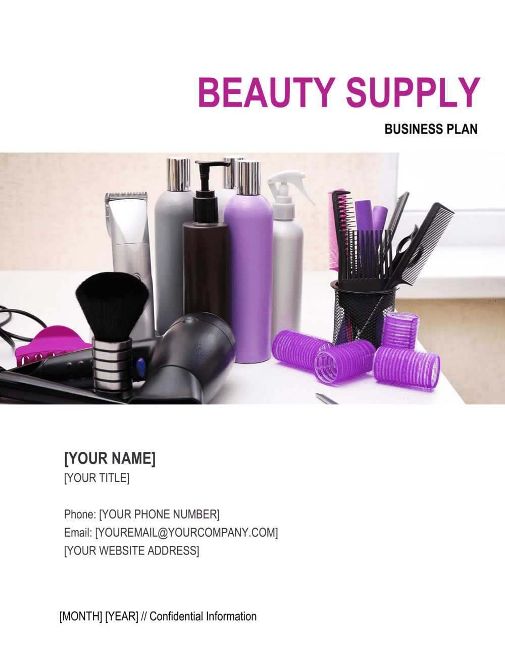 Business-in-a-Box's Beauty Supply Business Plan Template