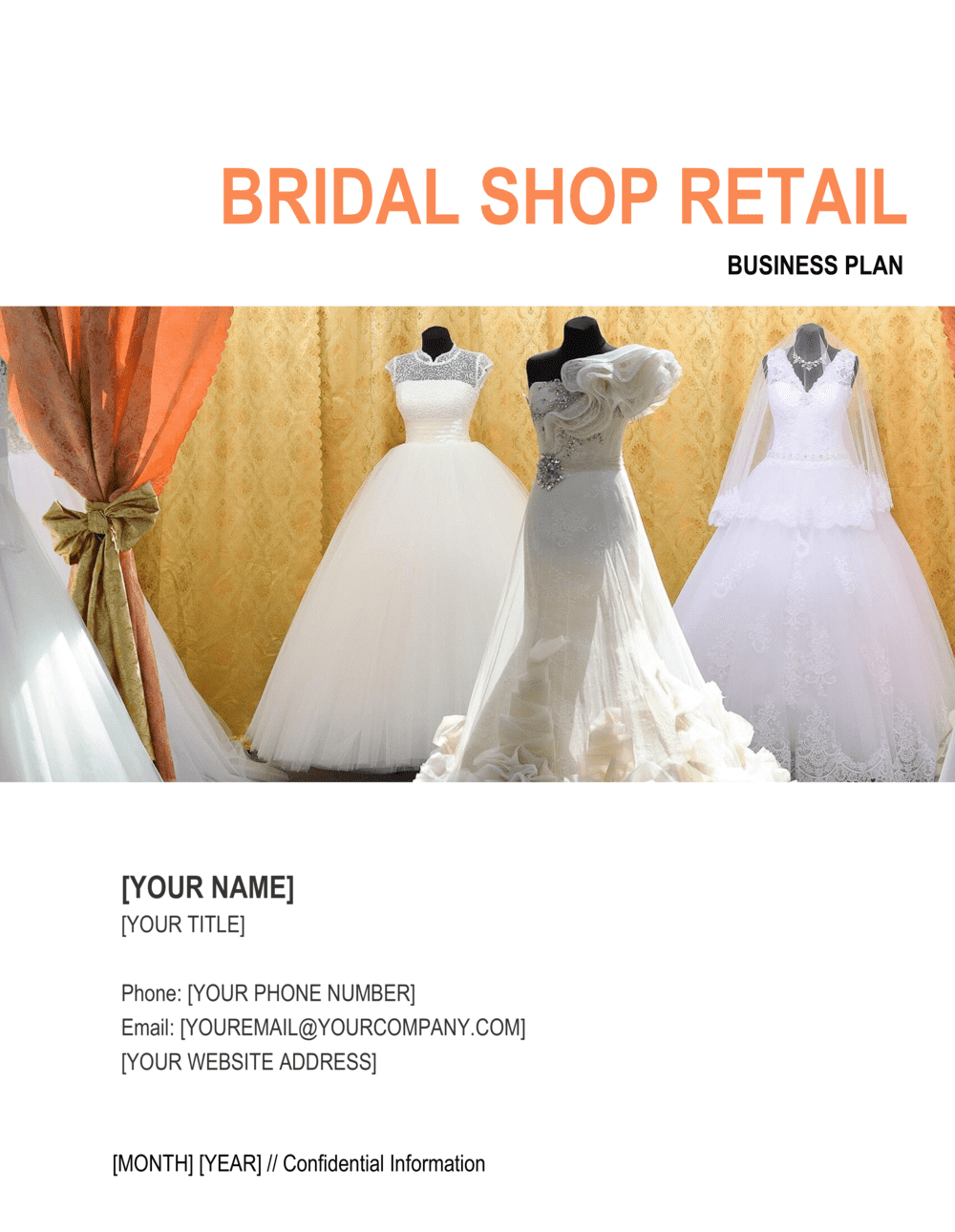 Business-in-a-Box's Bridal Shop Retail Plan Template