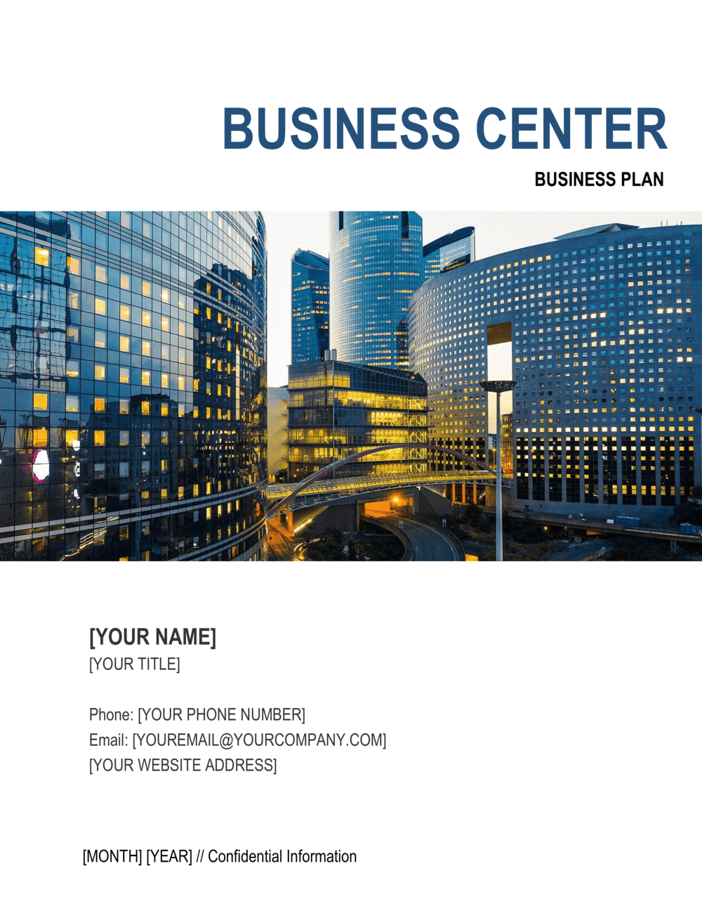 Business-in-a-Box's Business Center Business Plan Template