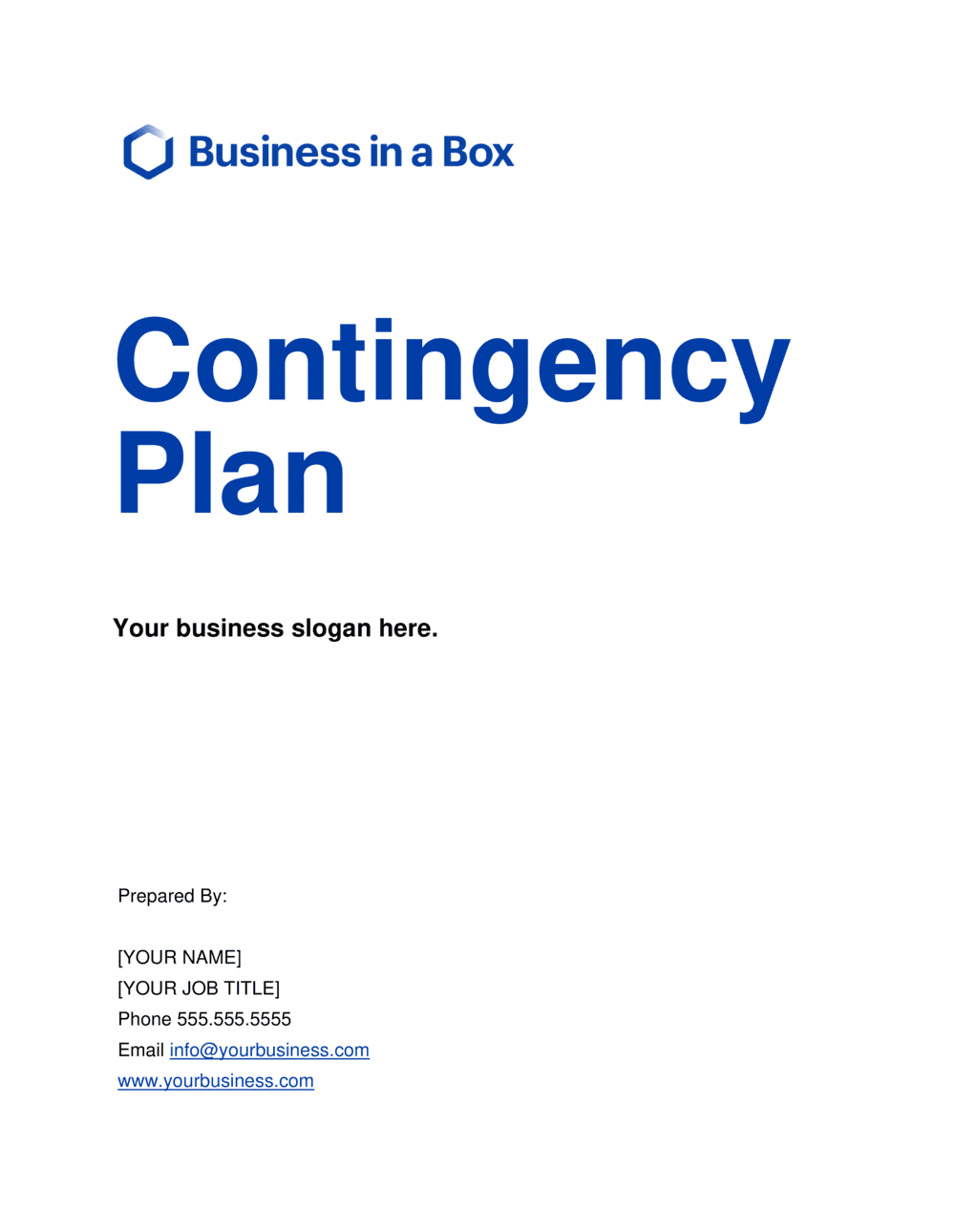 Business-in-a-Box's Business Contingency Plan Template
