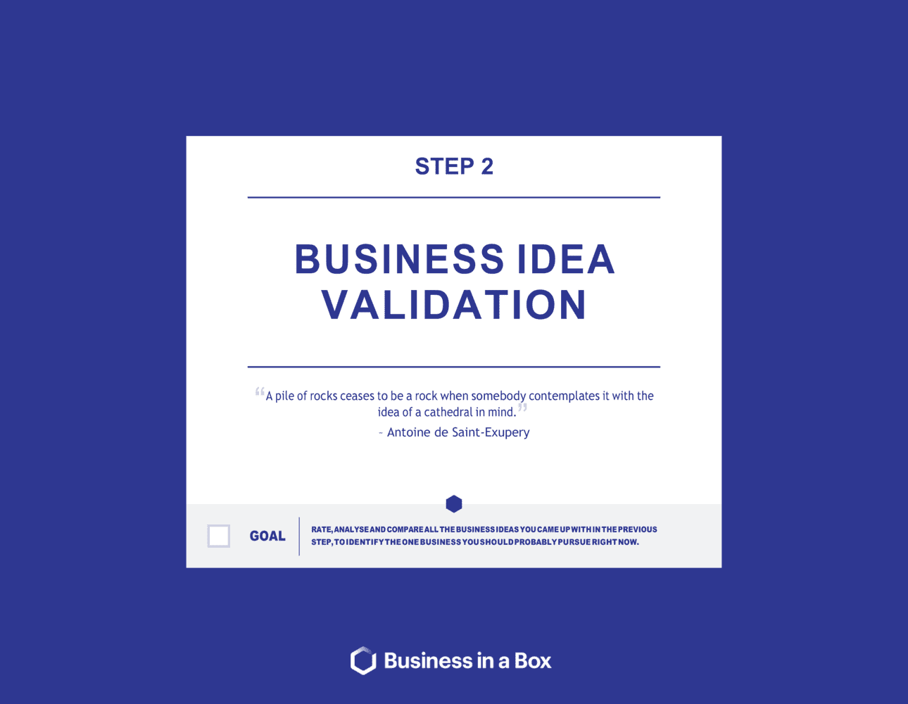 Business-in-a-Box's Business Idea Validation_startup Blueprints_chapter 2 Template