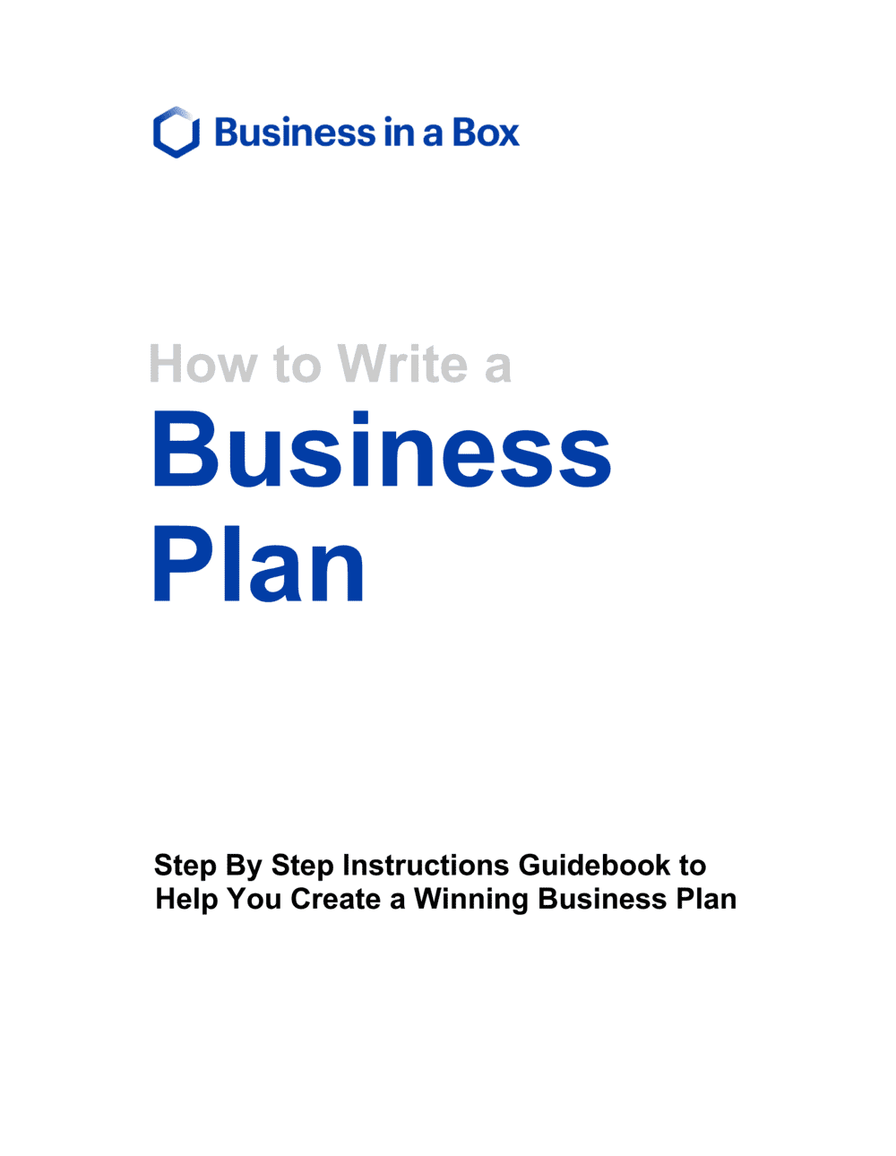 Business-in-a-Box's Business Plan Guidebook - Short Version Template