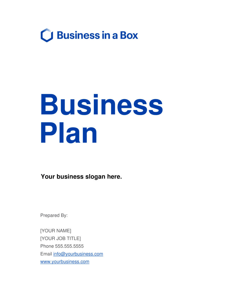 Business-in-a-Box's Business Plan Template