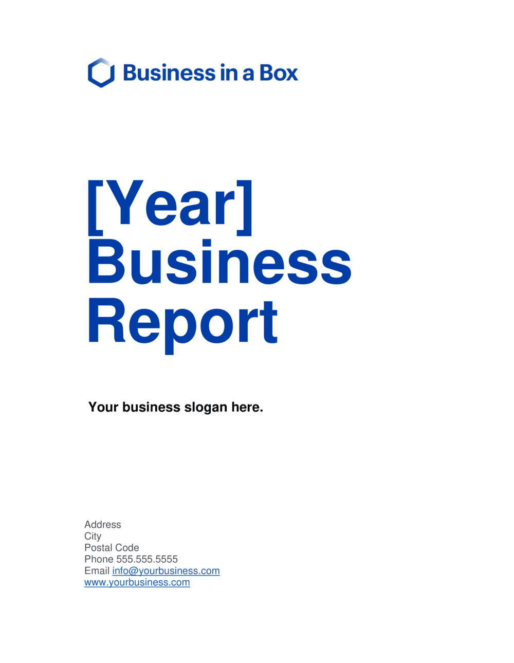 Business-in-a-Box's Business Report Template