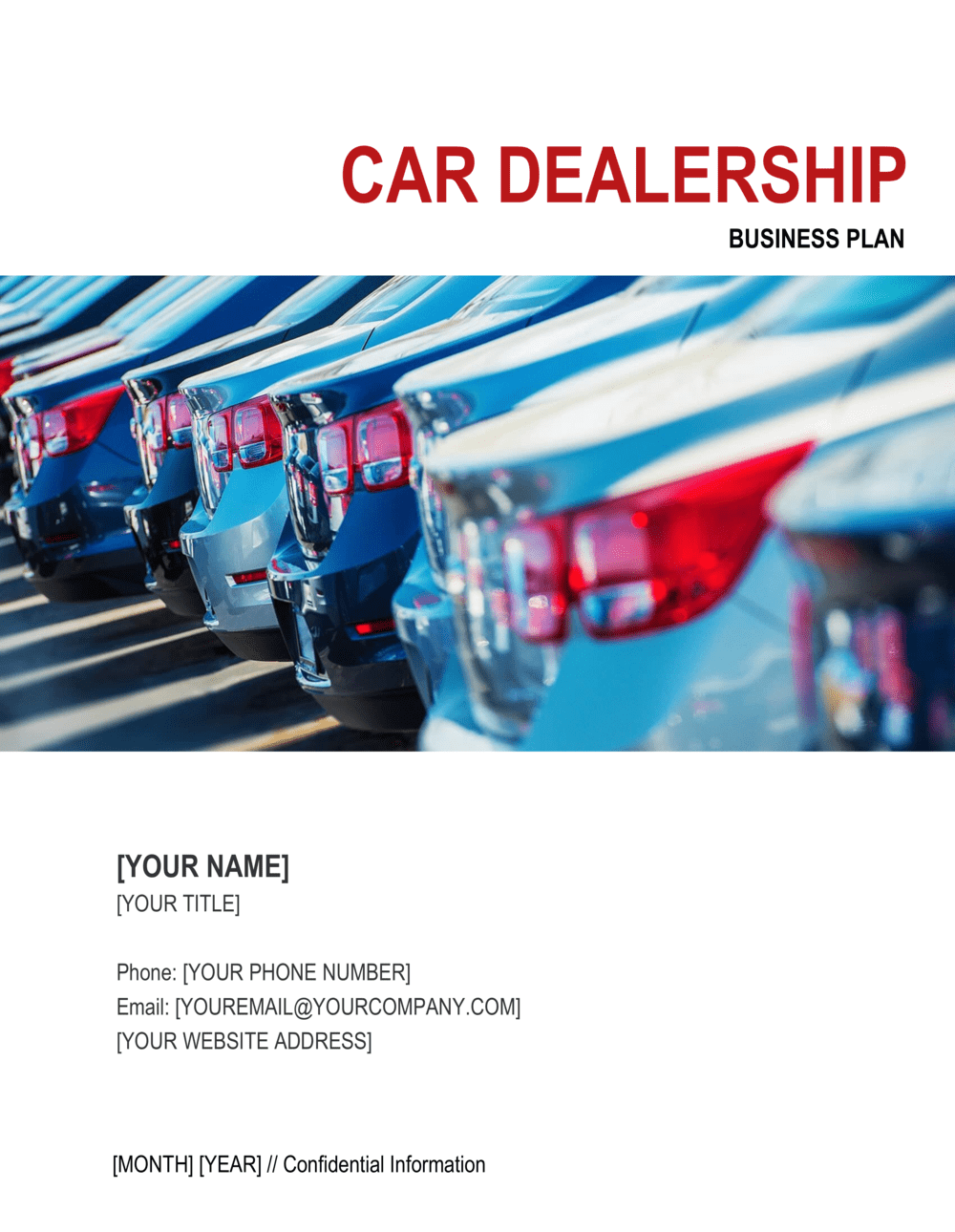 Business-in-a-Box's Car Dealership Business Plan 2 Template