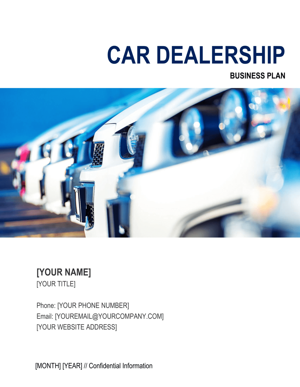 Business-in-a-Box's Car Dealership Business Plan Template