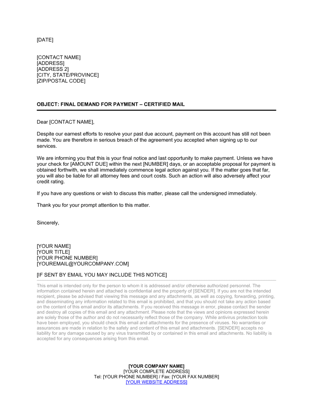 Business-in-a-Box's Collection Letter Final Template
