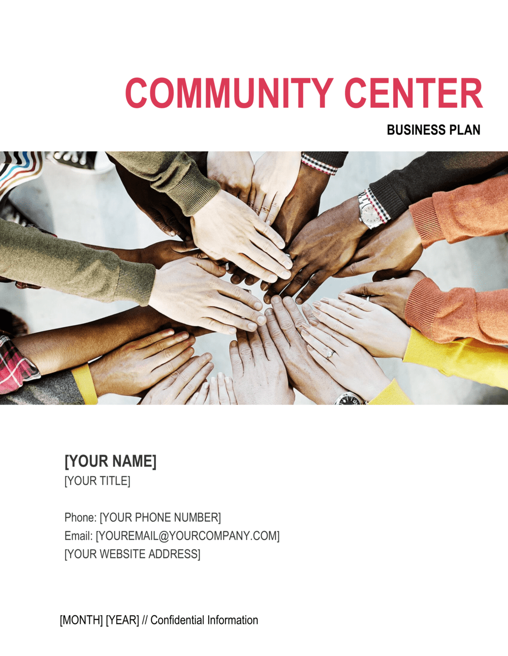 Business-in-a-Box's Community Center Business Plan Template