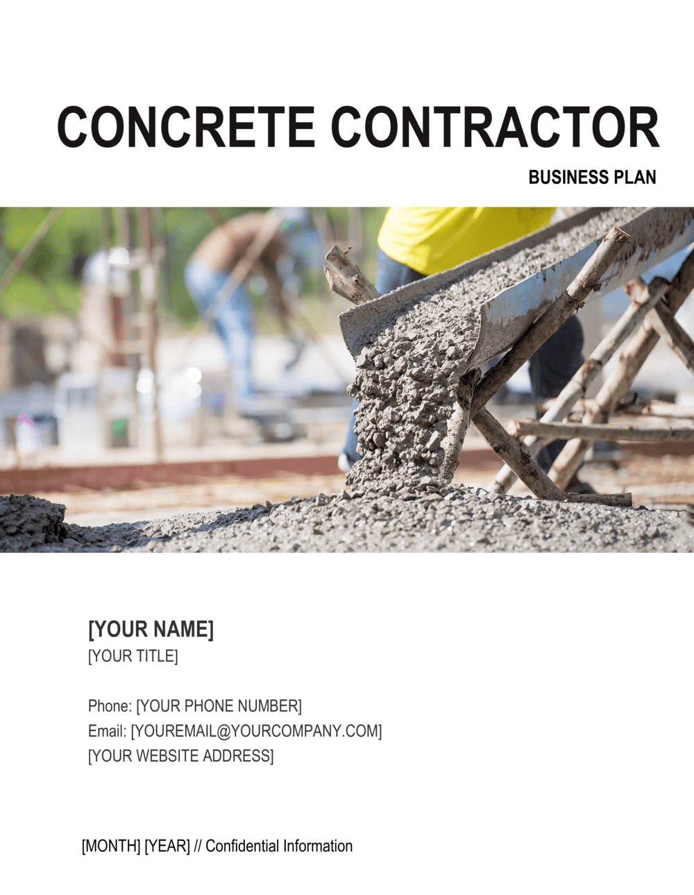 Business-in-a-Box's Concrete Contractor Business Plan Template