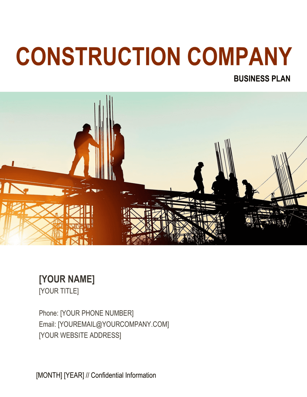 Business-in-a-Box's Construction Company Business Plan 2 Template