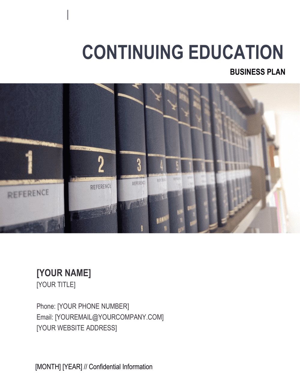 Business-in-a-Box's Continuing Education Center Business Plan Template