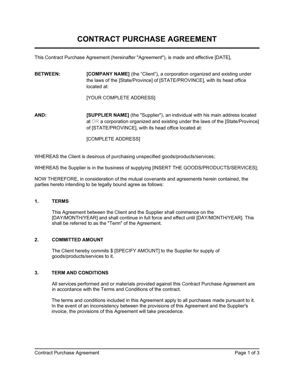 Business-in-a-Box's Contract Purchase Agreement_check Name Template