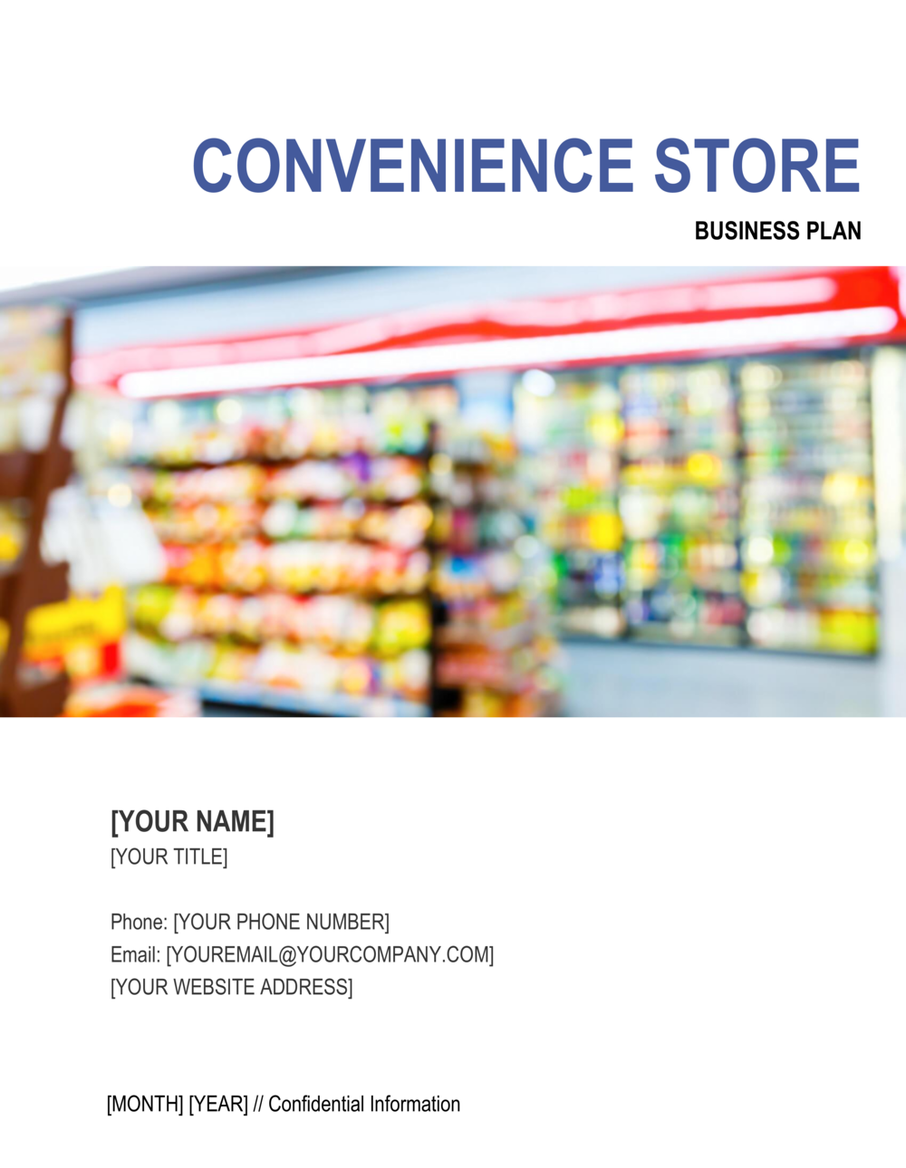Business-in-a-Box's Convenience Store Business Plan Template