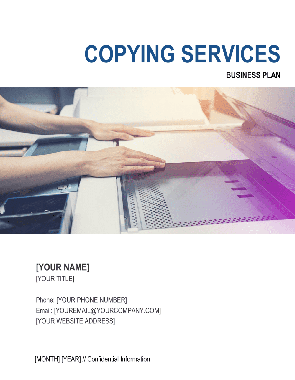 Business-in-a-Box's Copying Services Business Plan Template