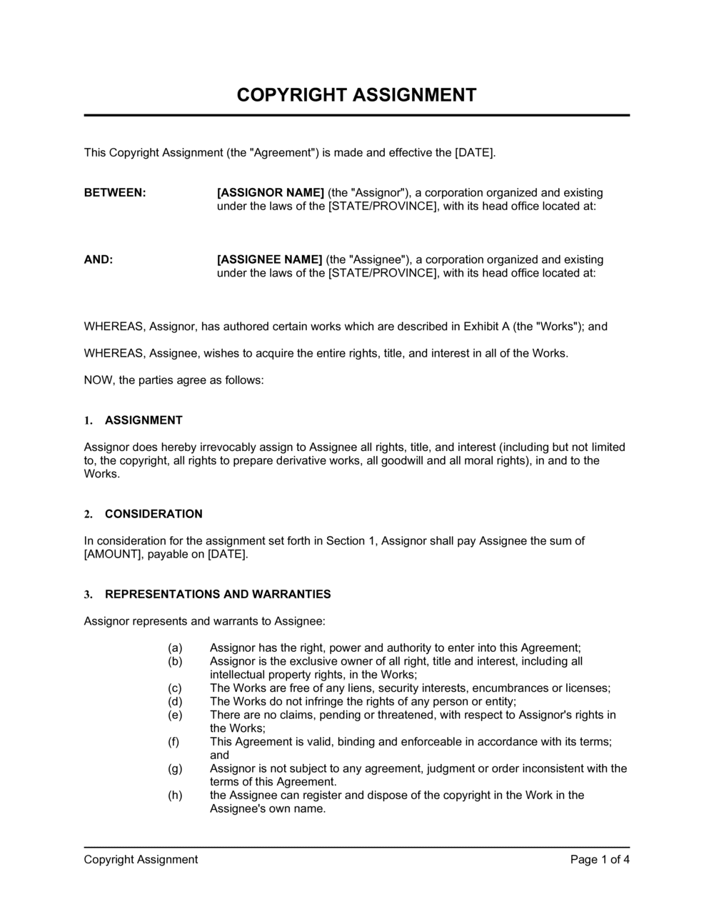 Business-in-a-Box's Copyright Assignment Template