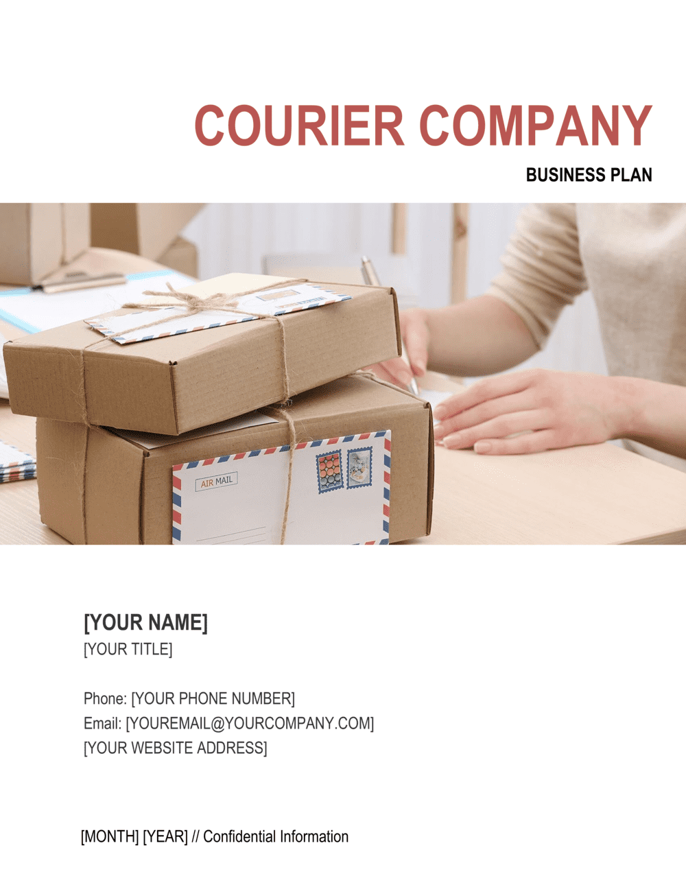 Business-in-a-Box's Courier Company Business Plan Template