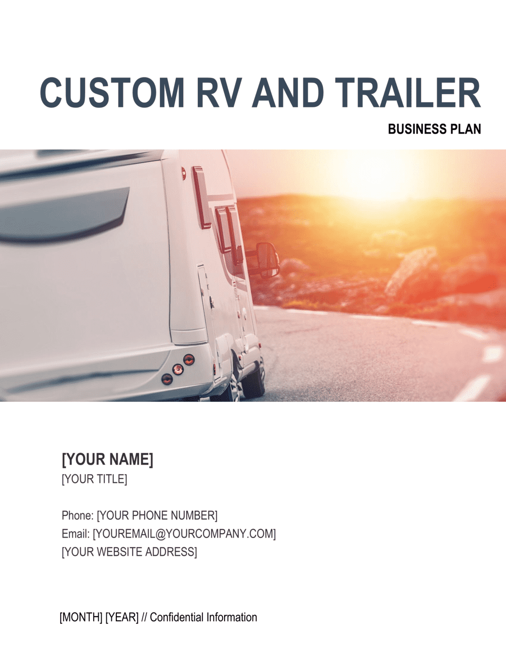 Business-in-a-Box's Custom RV and Trailer Business Plan Template