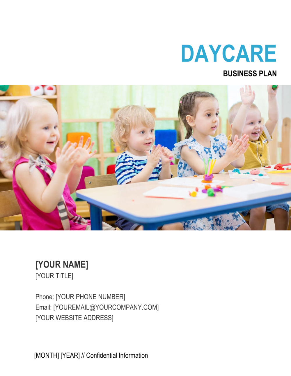 Business-in-a-Box's Daycare Business Plan 2 Template