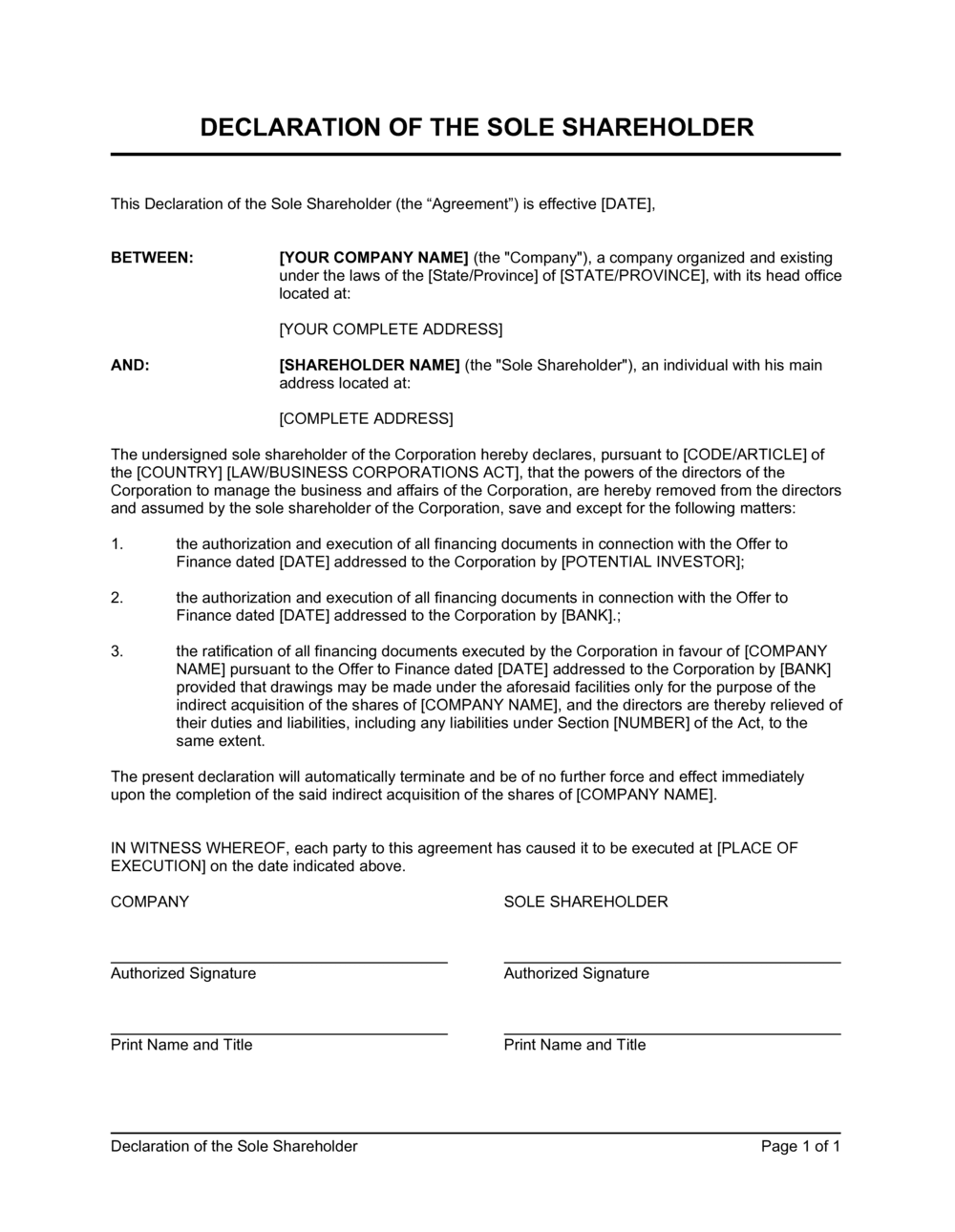 Letter To Shareholders Template from templates.business-in-a-box.com