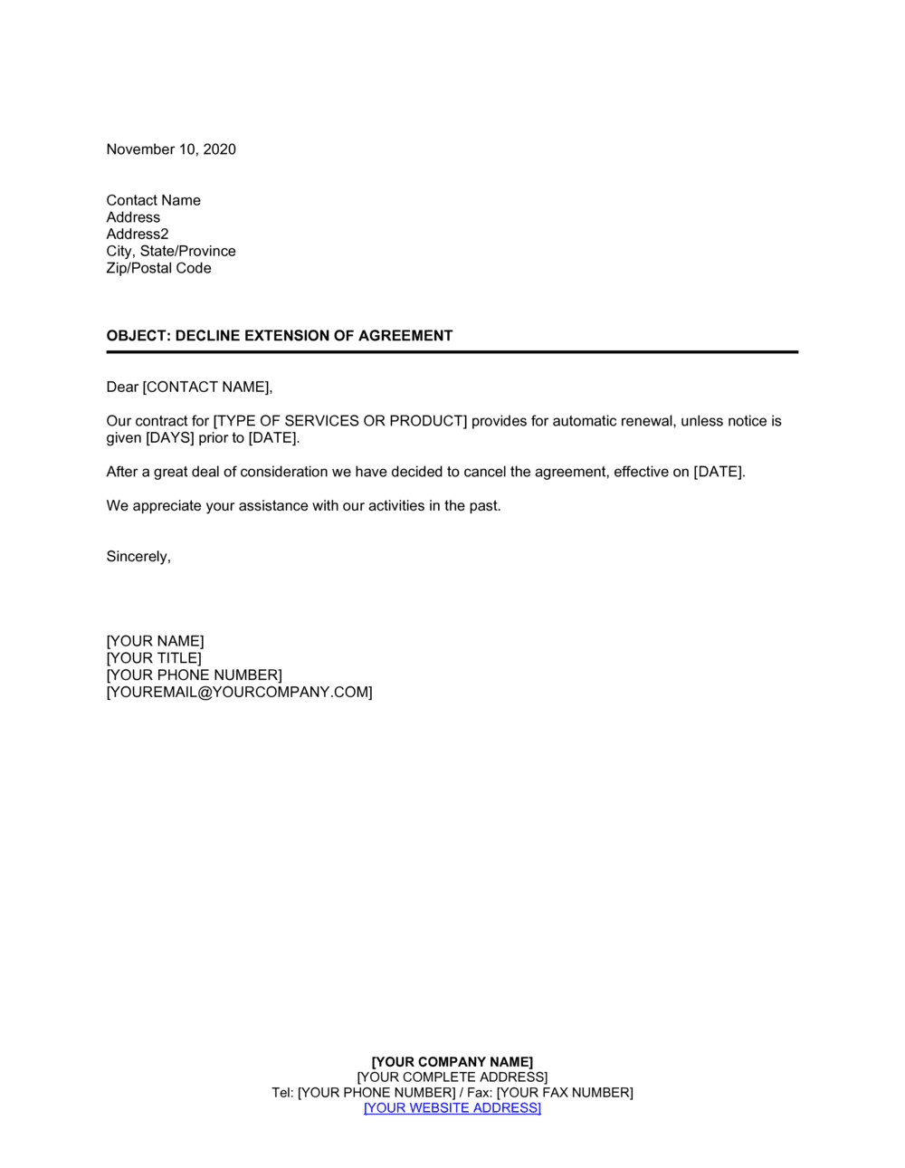 Decline Letter To Applicant from templates.business-in-a-box.com