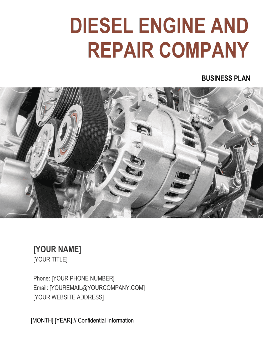 Business-in-a-Box's Diesel Engine and Repair Company Business Plan Template