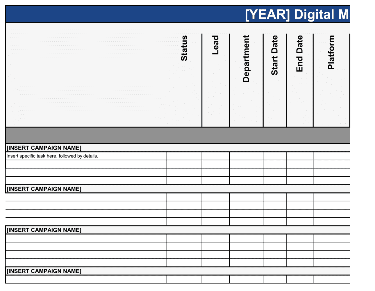Business-in-a-Box's Digital Marketing Campaign Plan Template