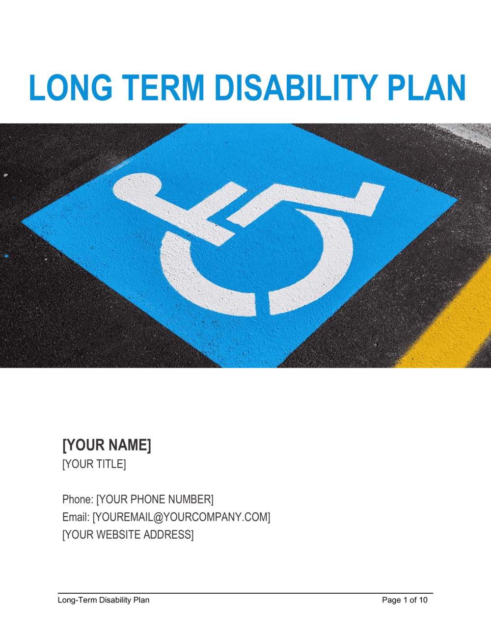 Business-in-a-Box's Disability Plan Long-Term Template