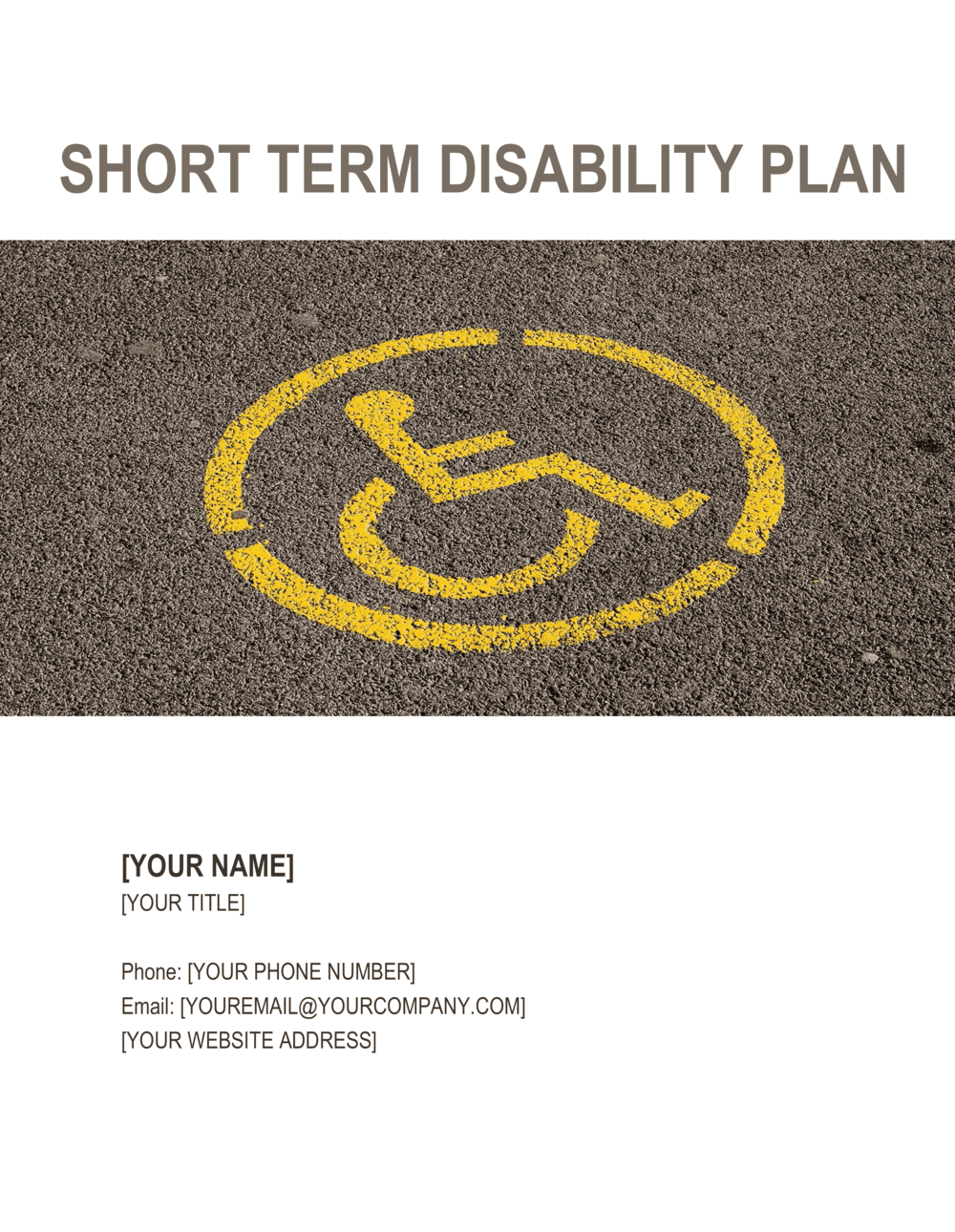 Business-in-a-Box's Disability Plan Short-Term Template