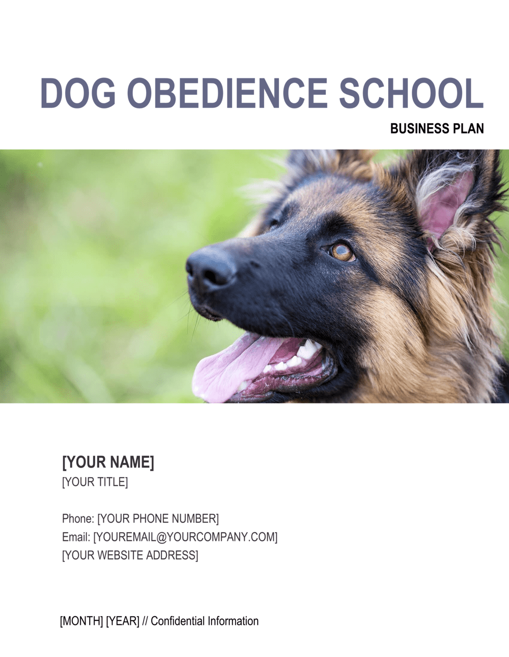 Business-in-a-Box's Dog Obedience School Business Plan Template