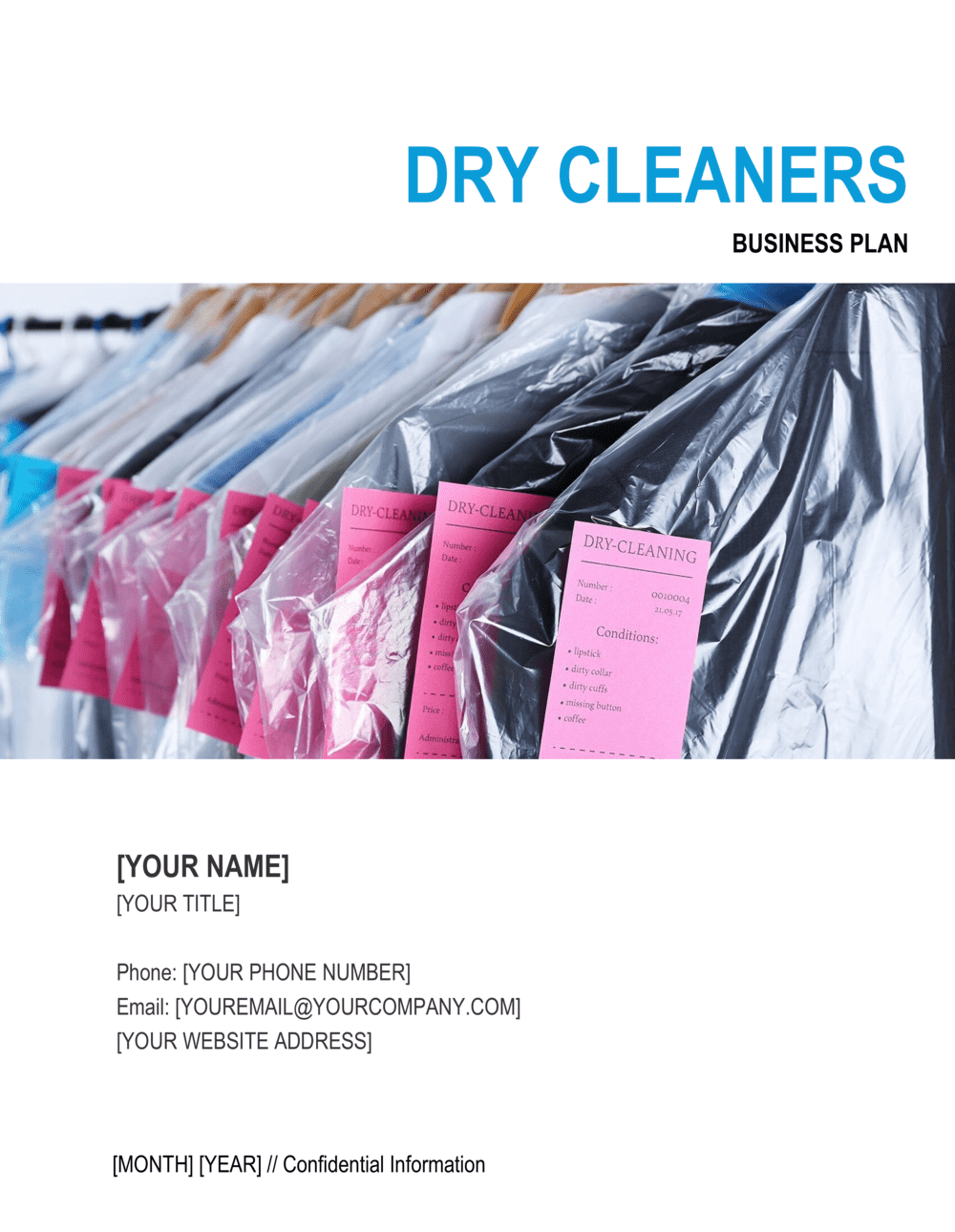 Business-in-a-Box's Dry Cleaners Business Plan Template