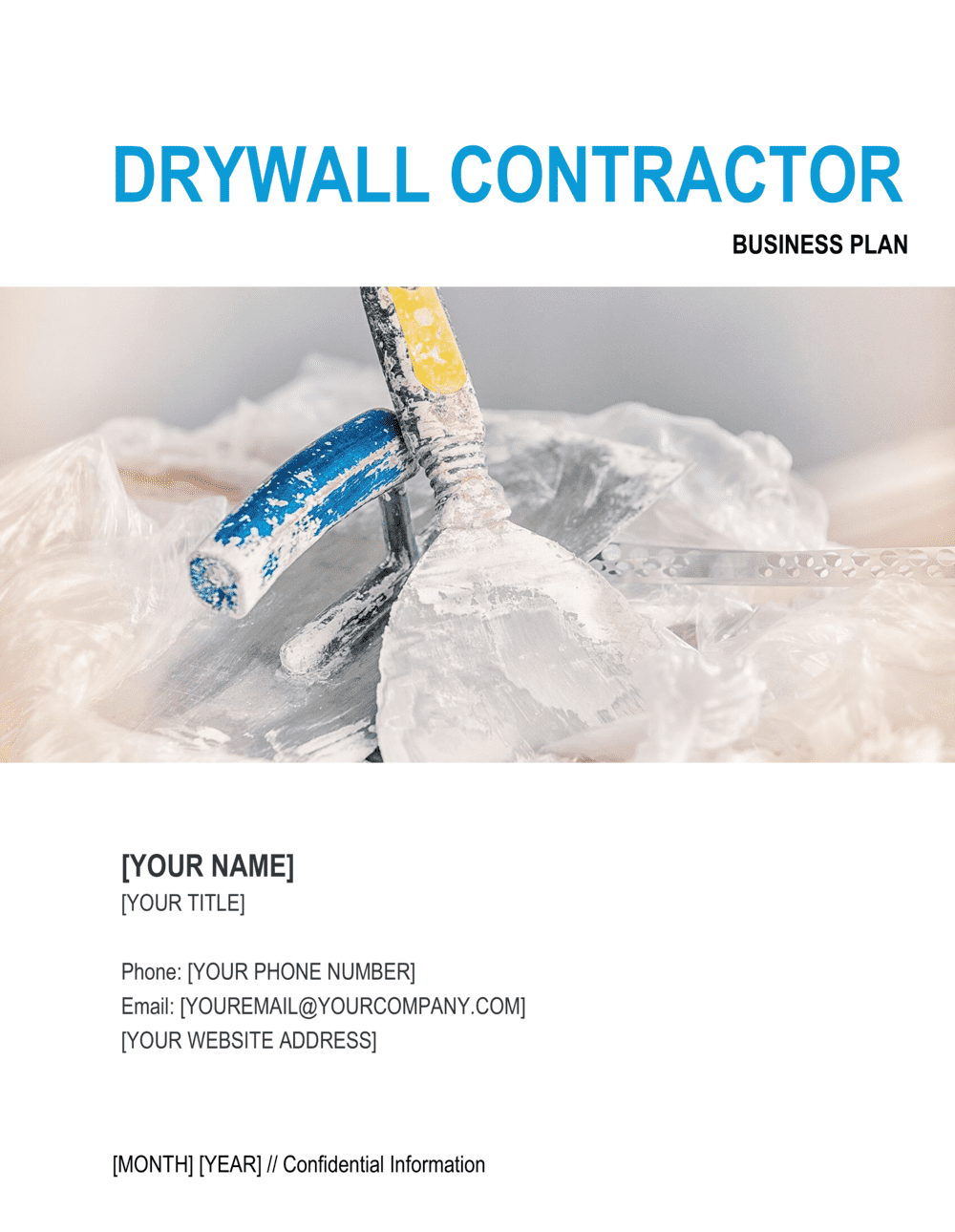 Business-in-a-Box's Drywall Contractor Business Plan Template