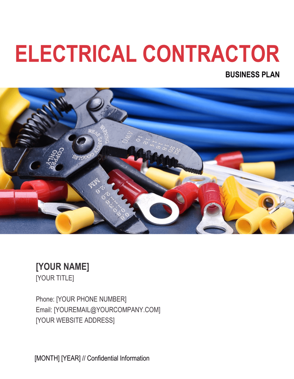 Business-in-a-Box's Electrical Contractor Business Plan Template