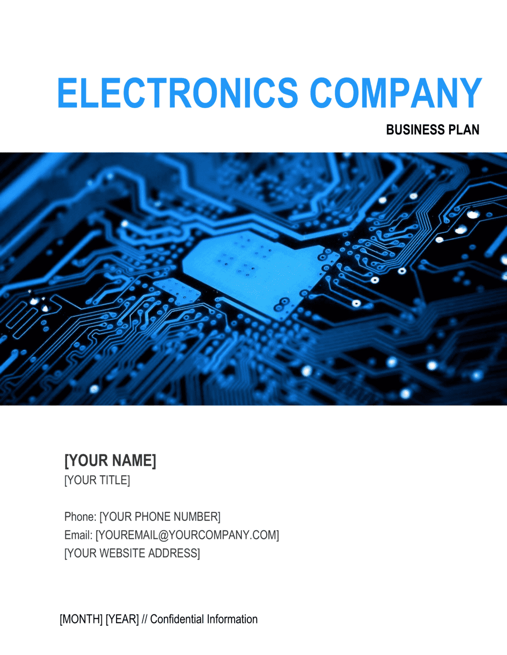 Business-in-a-Box's Electronics Company Business Plan Template