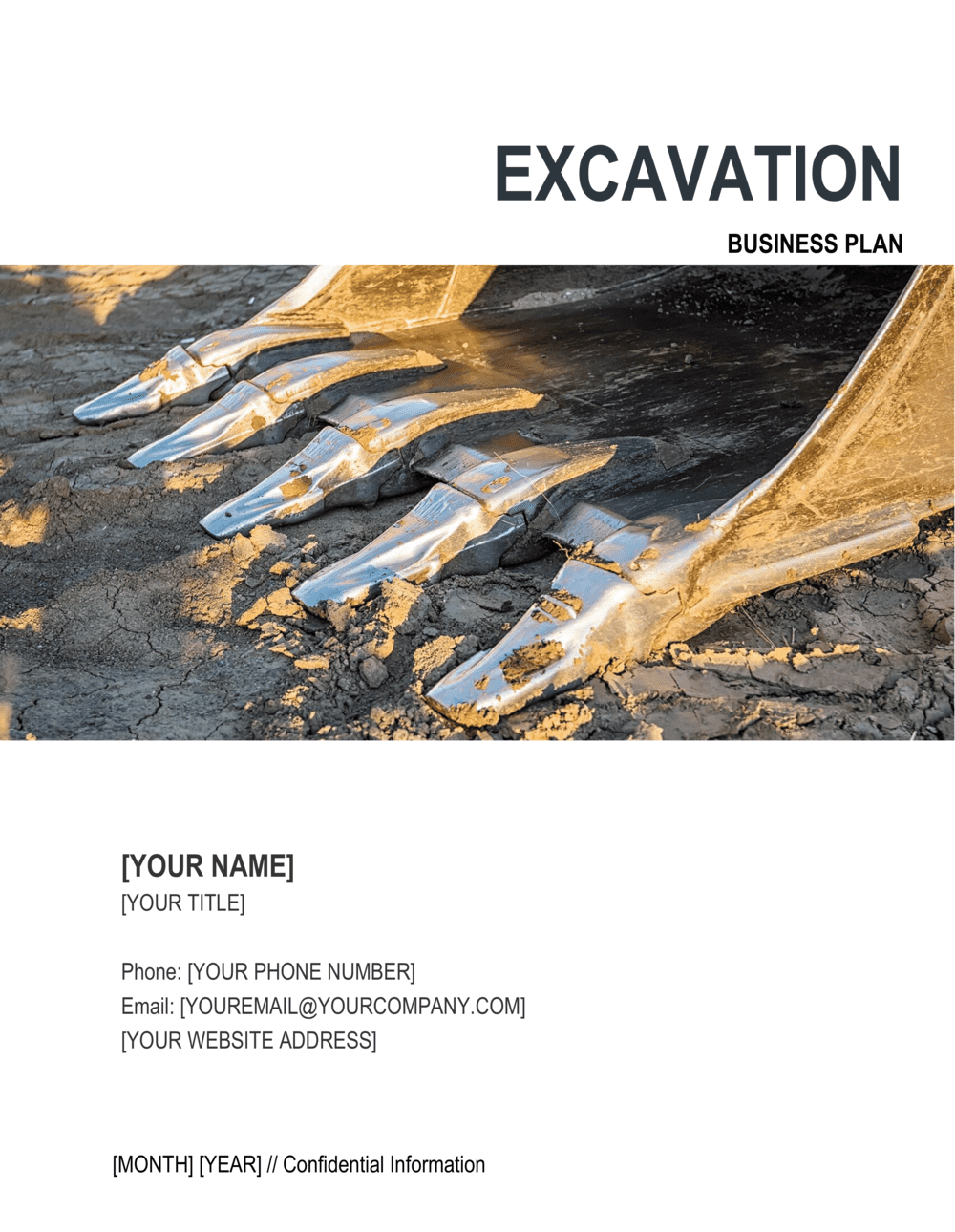 Business-in-a-Box's Excavation Contractor Business Plan Template