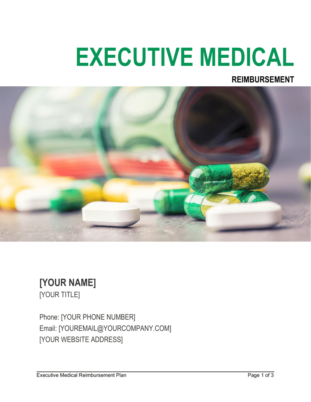 Business-in-a-Box's Executive Medical Reimbursement Plan Template