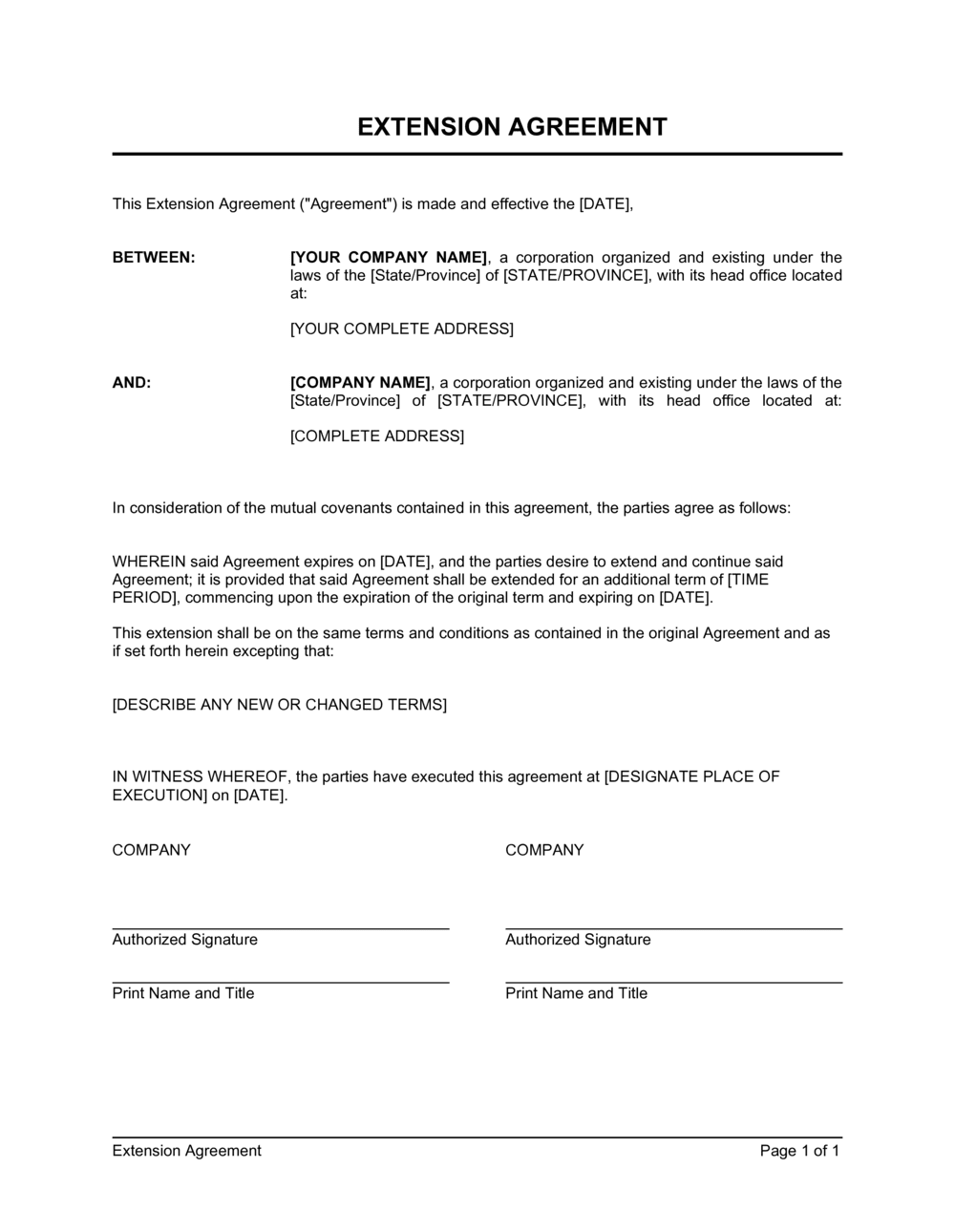 Credit Agreement Letter Sample from templates.business-in-a-box.com
