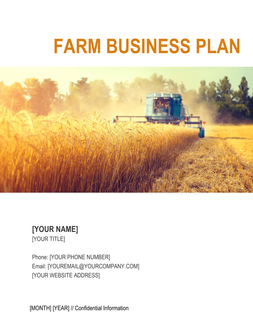 Business-in-a-Box's Farm Business Plan 2 Template