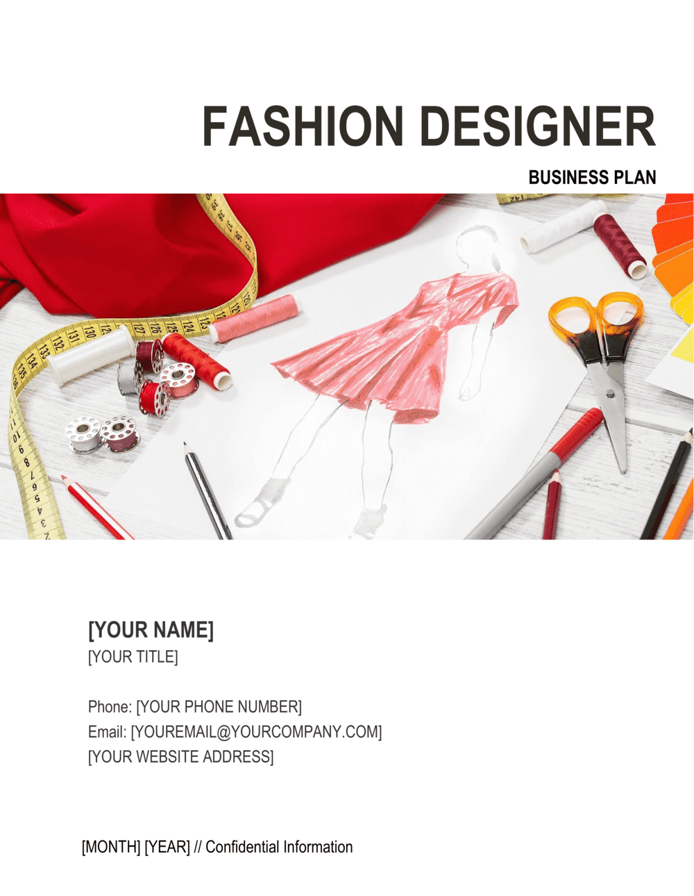 Fashion Designer Business Plan Template By Business In A Box