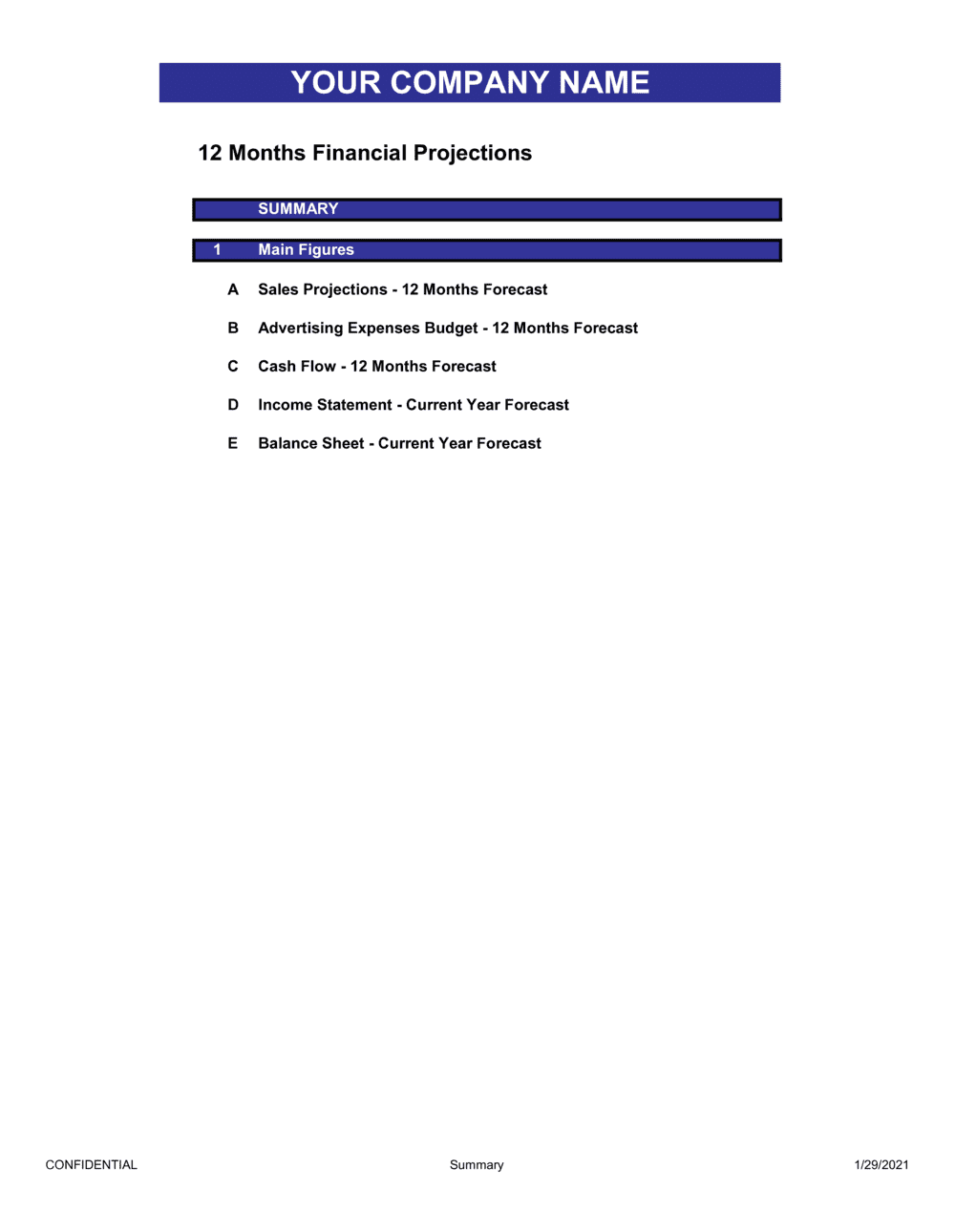 Business-in-a-Box's Financial Report Template