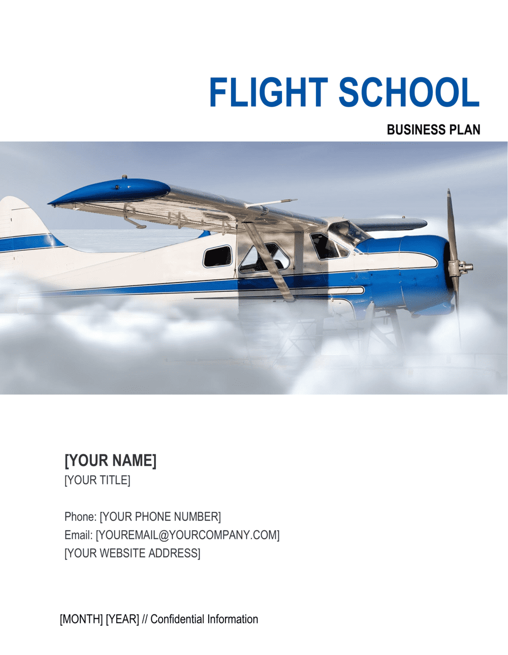 Business-in-a-Box's Flight School Business Plan Template