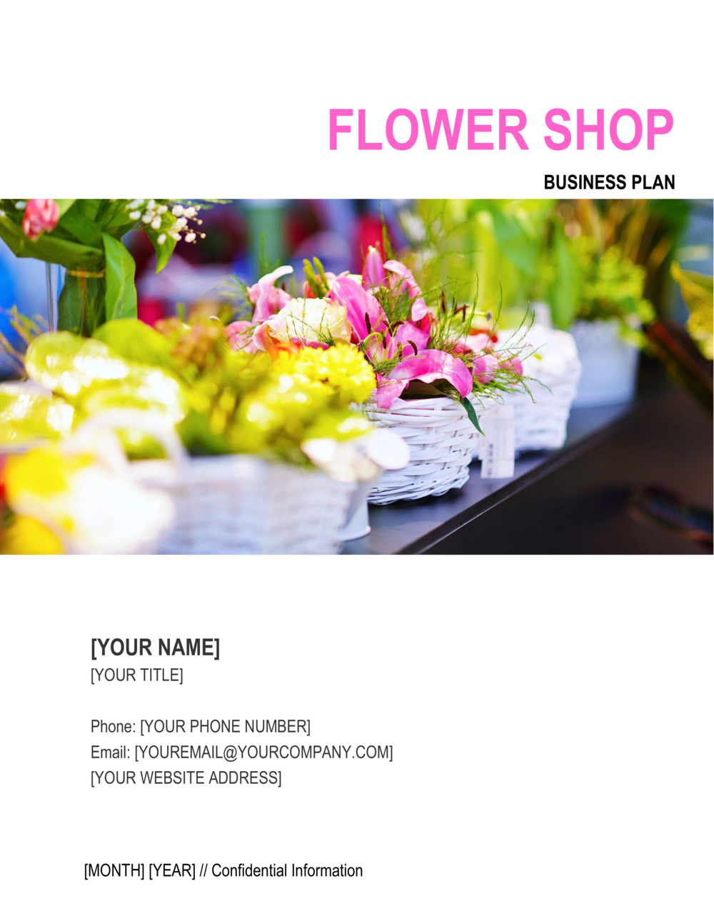 Business-in-a-Box's Flower Shop Business Plan 3 Template