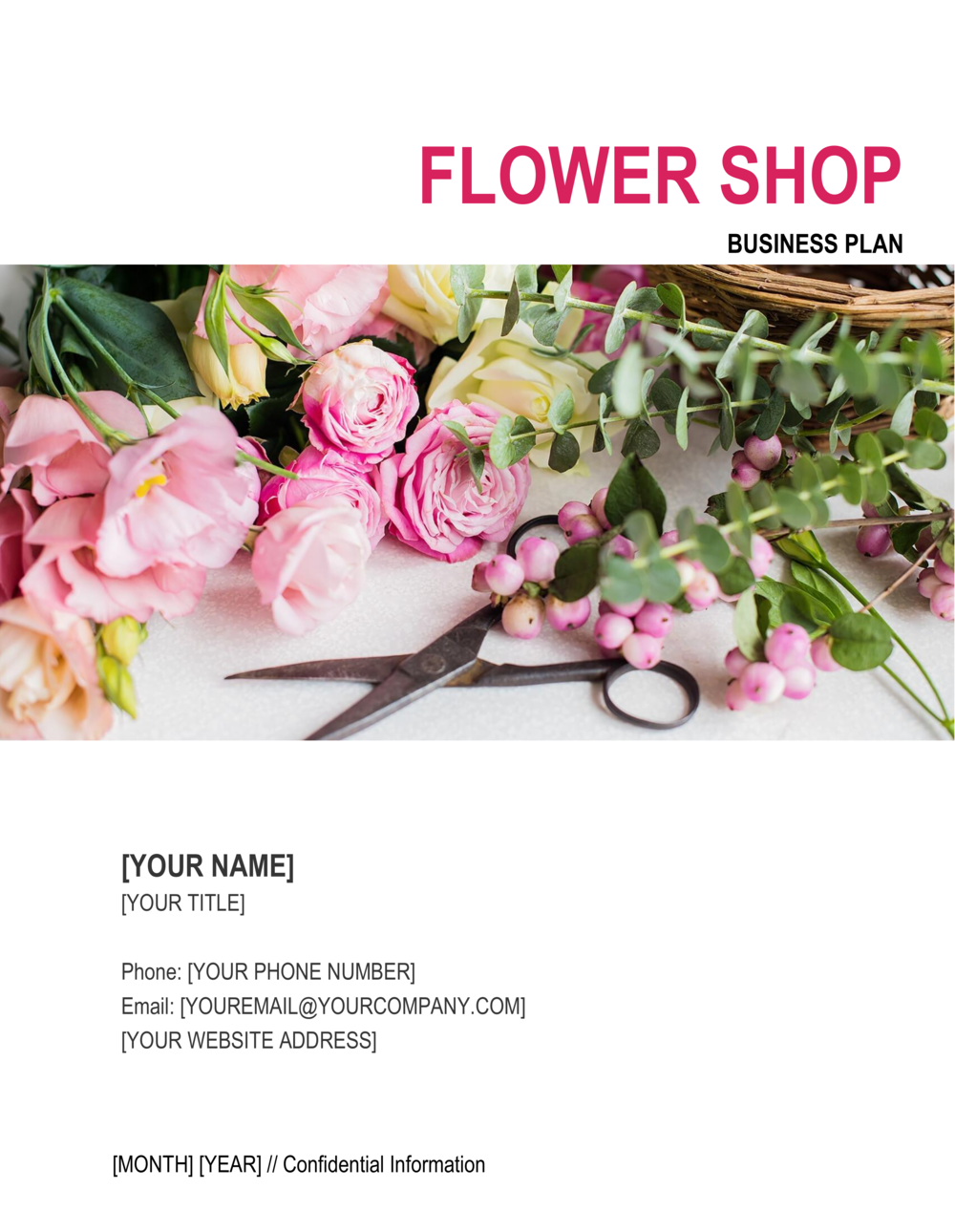 Business-in-a-Box's Flower Shop Business Plan Template