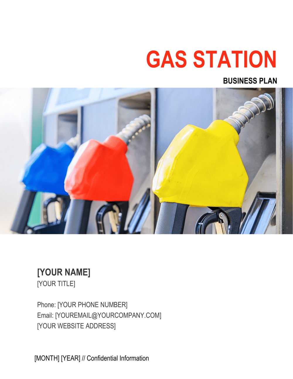 Business-in-a-Box's Gas Station Business Plan Template