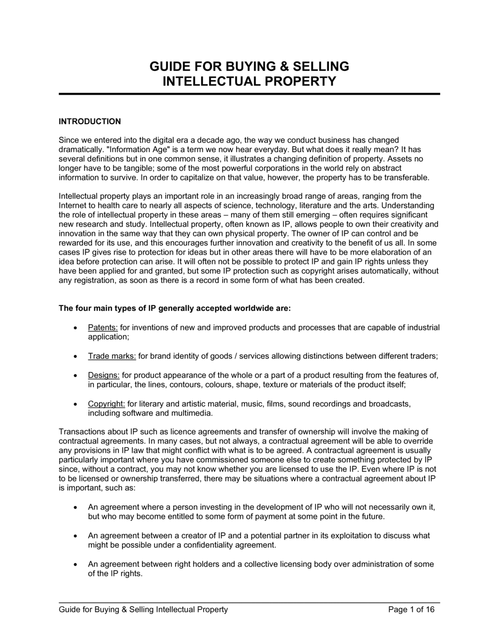 Business-in-a-Box's Guide for Buying & Selling Intellectual Property Template