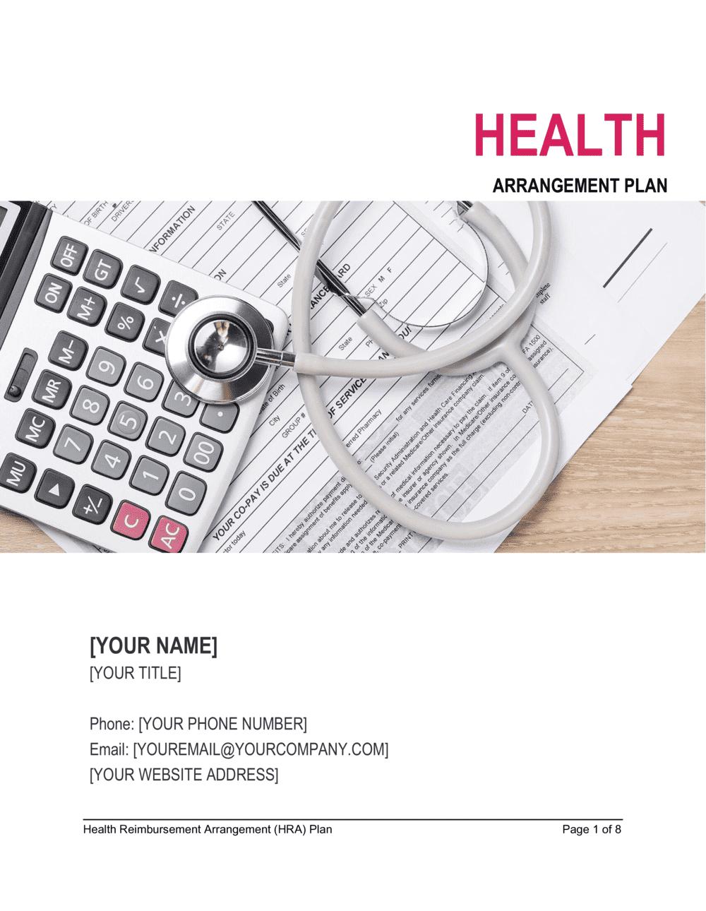 Business-in-a-Box's Health Reimbursement Arrangement Plan (HRA) Template
